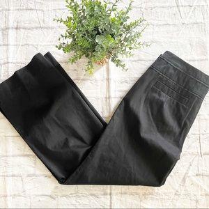 Anthropologie wide leg zip cotton black pants 12